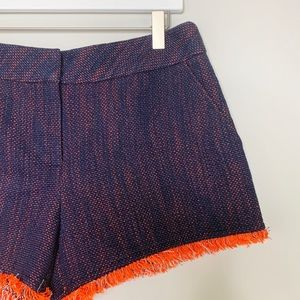 Trina Turk Raw Hem Blue & Orange Shorts 6